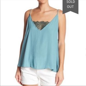 Free People lace satin cami